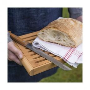 Skärbräda för bröd med uppsamling